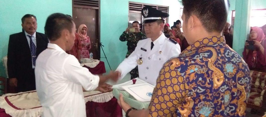 Pelantikan dan Serah Terima Jabatan Kepala Desa Saradan Periode 2019-2025